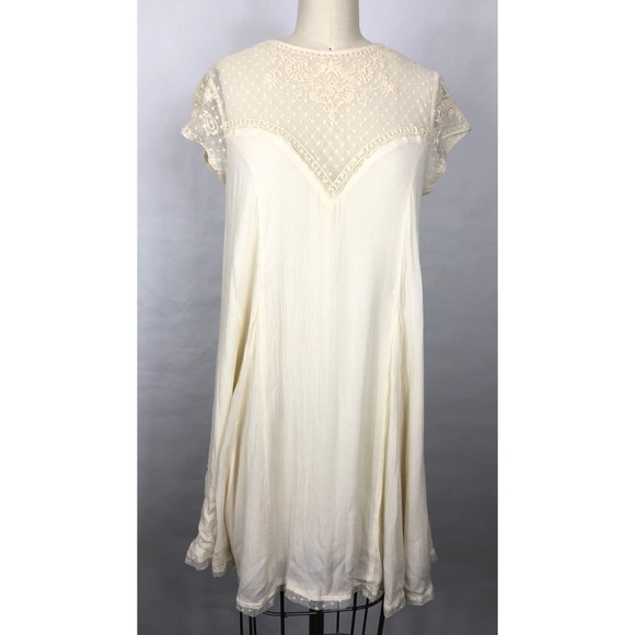 Anthropologie Dresses & Skirts - Anthropologie Lucy Fried Ivory Lace Dress Sz S